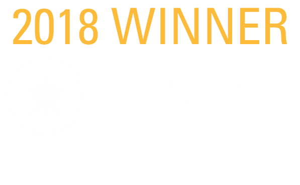 Global Teaching Excellence Award text